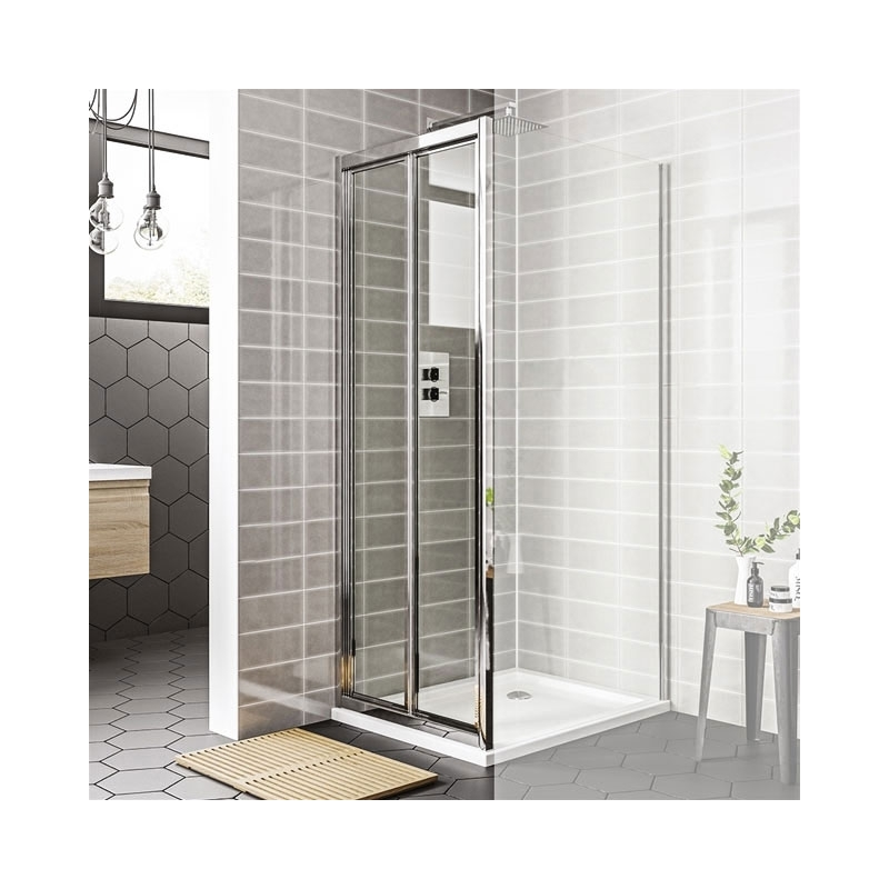 Essential Spring Bi-Fold Shower Door 800mm