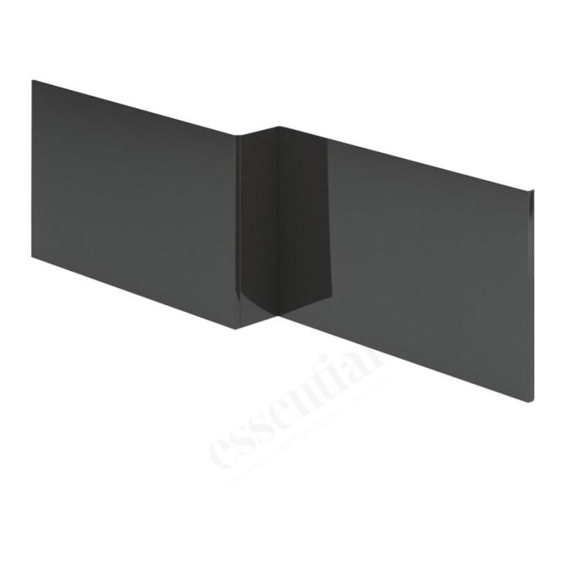 Essential Nevada MDF L Showerbath Front Panel 1700mm Grey