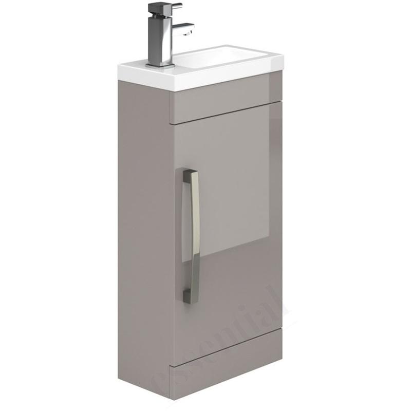 Essential Nevada Washbasin Unit & Basin 1 Door 400mm Cashmere