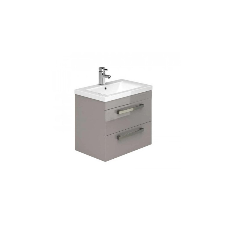 Essential Nevada Wall Unit & Basin 2 Drawers 500mm Cashmere