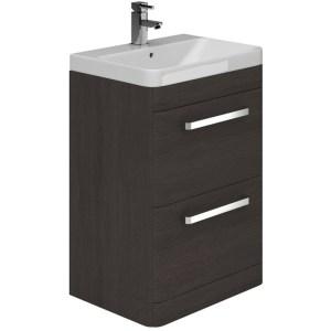 Essential Vermont Unit & Basin 2 Drawer 600mm Dark Grey