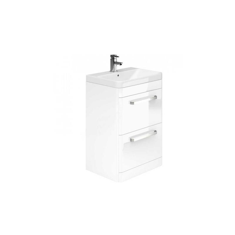 Essential Vermont Floor Unit & Basin 2 Drawer 800mm White