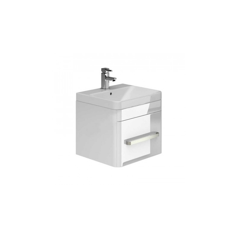 Essential Vermont 500mm Wall Hung 1 Drawer Unit & Basin White
