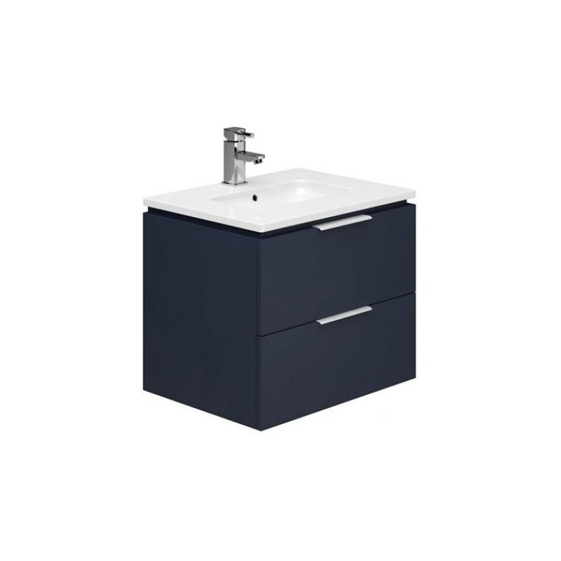 Essential Dakota 600mm Wall Hung Unit & Basin Marine Blue
