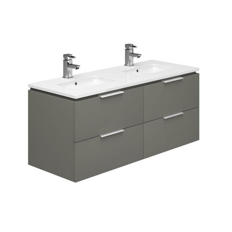 Essential Dakota 1200mm Wall Hung Unit & Basin Onyx Grey