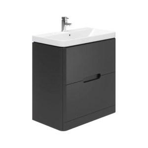 Essential Colorado 800mm Floor Unit & Basin Graphite Grey