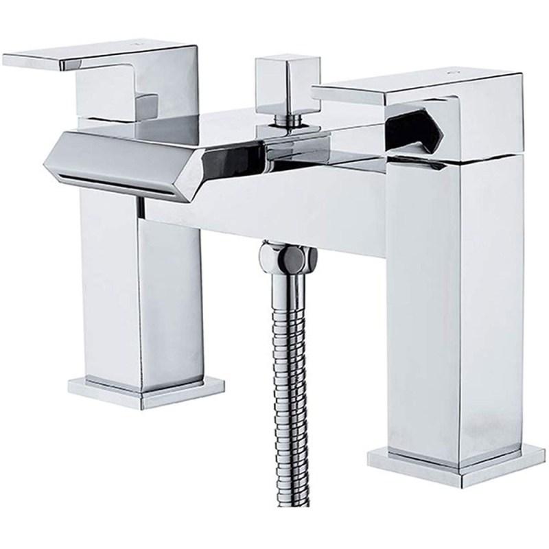 Essential Elsden Deck Mounted Bath Shower Mixer with Kit