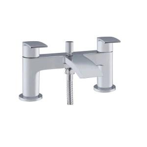 Essential Portobello Deck Mounted Bath Shower Mixer & Kit