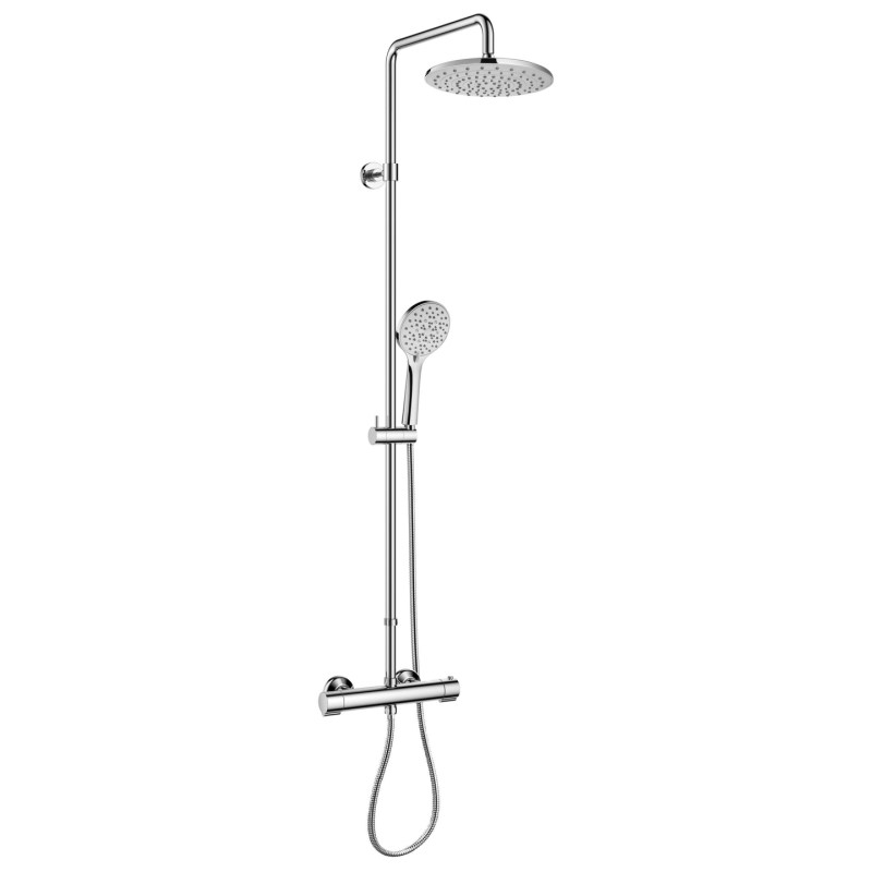 Flova Smart Exposed Thermostatic Shower with Extension & Easy Fix Kit