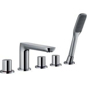Flova Allore 5-Piece Bath Shower Mixer with Handset & Hose