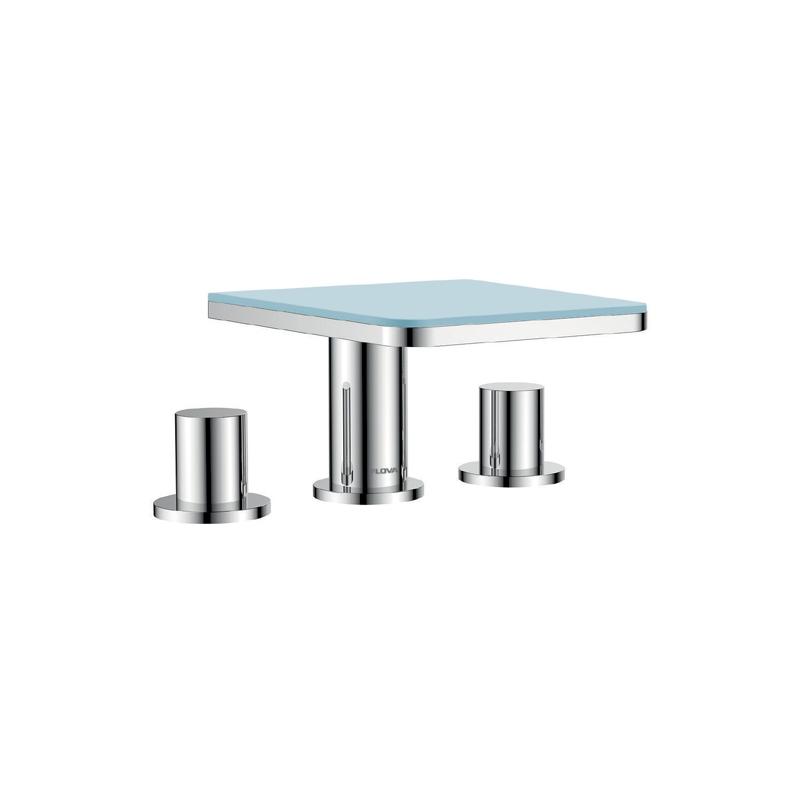 Flova Annecy 3-Piece Bath Mixer with Glass Shelf