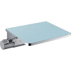 Flova Annecy Wall Thermostatic Bath Shower Mixer & Glass Shelf
