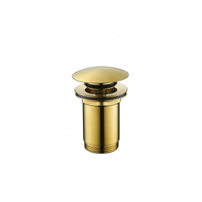 Flova Universal Basin Clicker Waste Brushed Brass