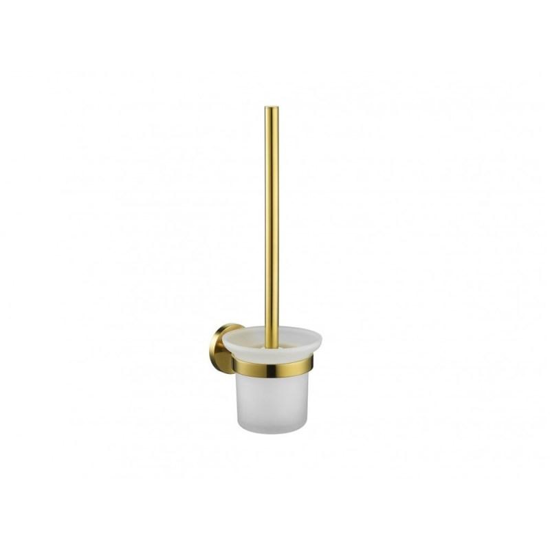 Flova Coco Toilet Brush & Holder Brushed Brass