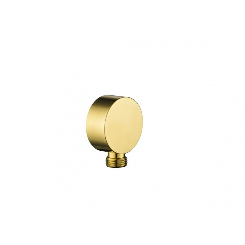 Flova Round Wall Outlet Elbow Brushed Brass
