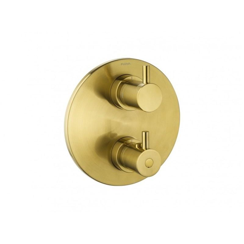 Flova Levo Round 3-Way Trim Kit Brushed Brass