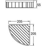 Flova 205mm Corner Rack Brushed Nickel