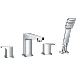 Flova Dekka 4-Piece Bath Shower Mixer with Handset & Hose