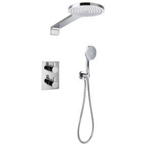 Flova Essence Thermostatic 2 Outlet Shower Set