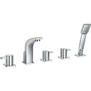 Flova Essence 5-Piece Bath Shower Mixer with Handset & Hose