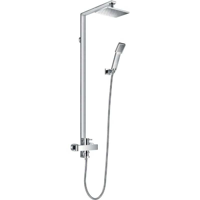 Flova Essence Shower Column with Manual Mixer, Shower & Handset
