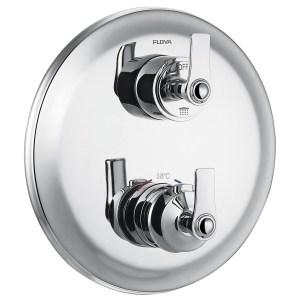 Flova Liberty Chrome Slim 2 Outlet Shower Trim Kit Only