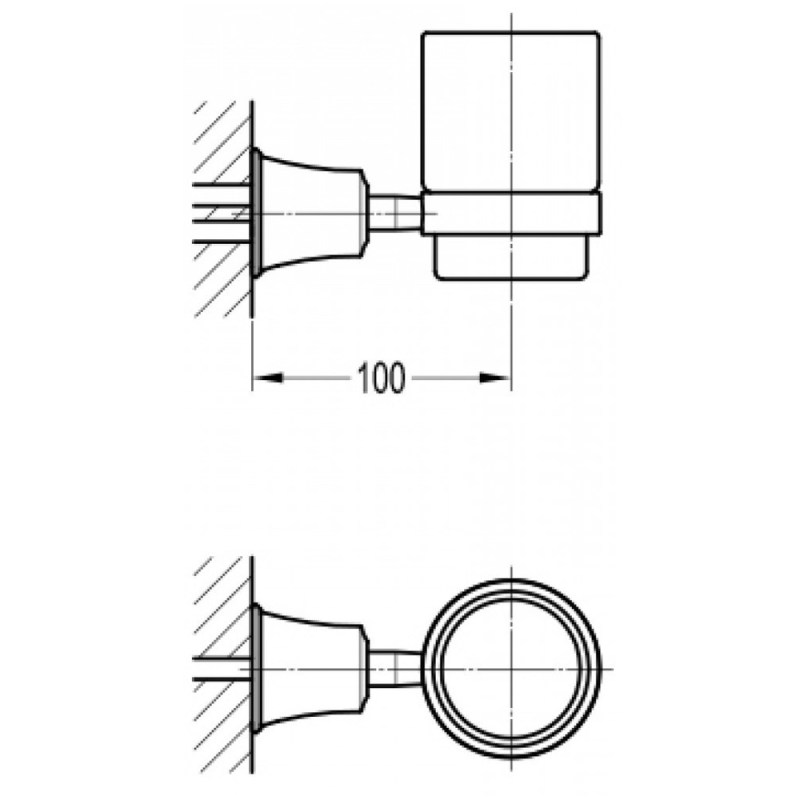 Flova Liberty Single Glass Tumbler Chrome