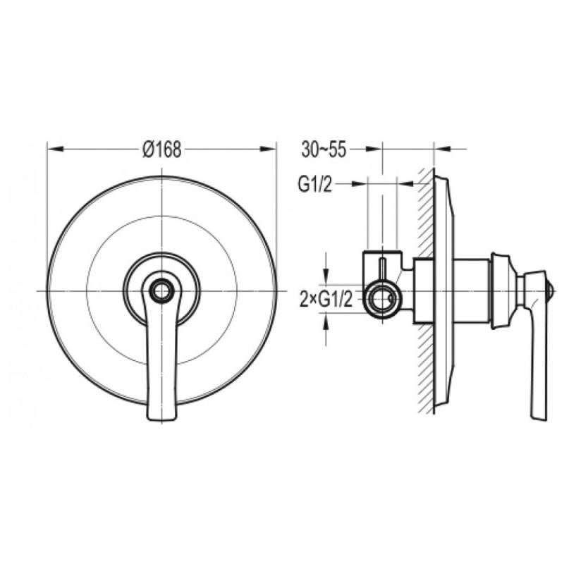 Flova Liberty Concealed Manual Shower Mixer Bronze
