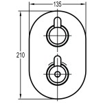 Flova Smart Slim Oval 2 Outlet Shower Trim Kit Only