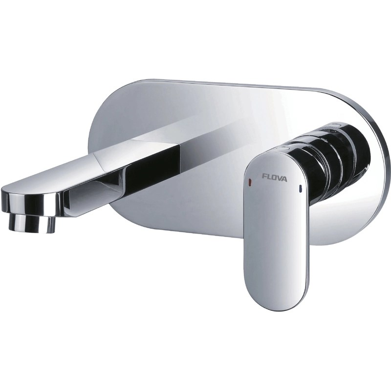 Flova Smart Wall Mounted Single Lever Basin Mixer with Waste