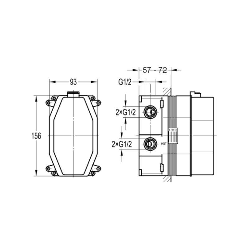 Flova Thermostatic SmartBox Shower Valve