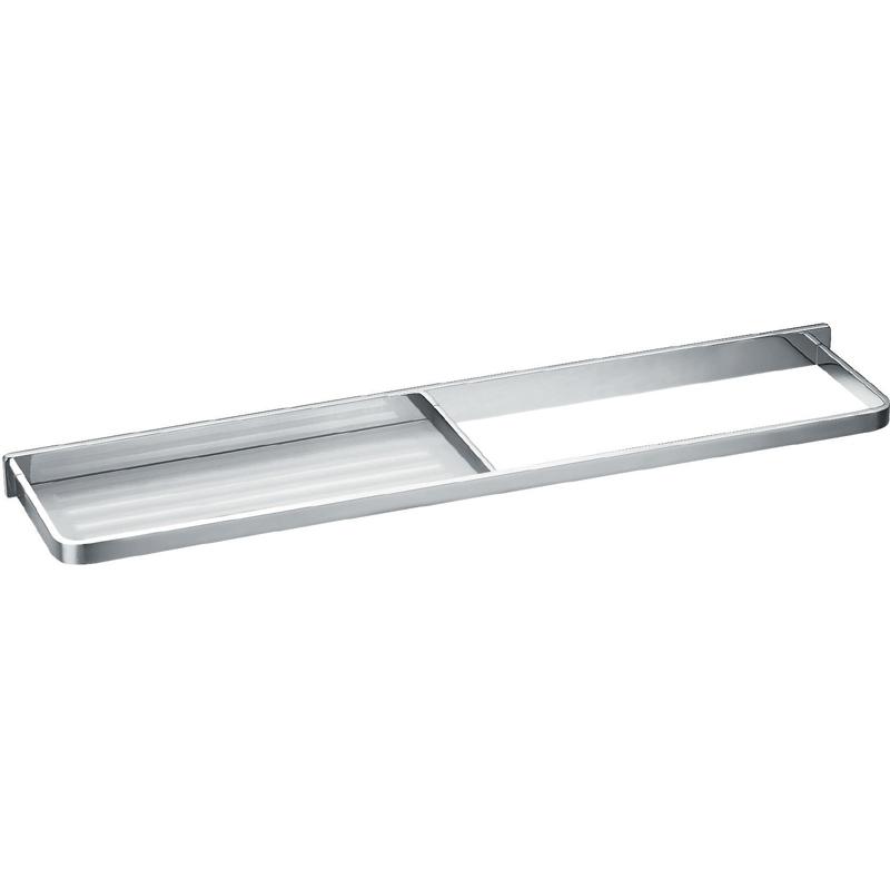 Flova Sofija Brass Towel Rail with Glass Shelf