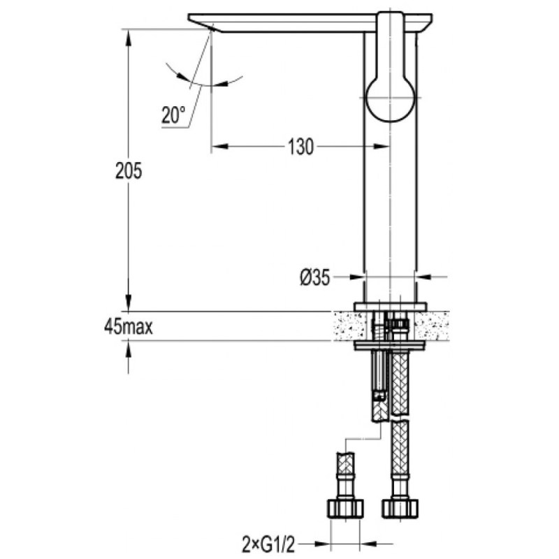 Flova Spring Tall Mono Basin Mixer