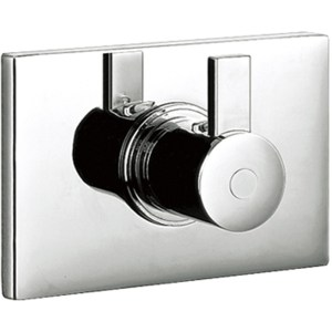 """Flova Str8 Thermostatic Shower with Dual Outlet 1/2"""" Connections"""