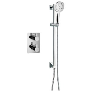 Flova Str8 Thermostatic 1 Outlet Shower Valve with Slide Rail Kit