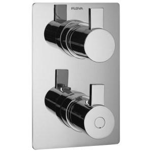 Flova Str8 Slim Square 3 Outlet Shower Trim Kit Only
