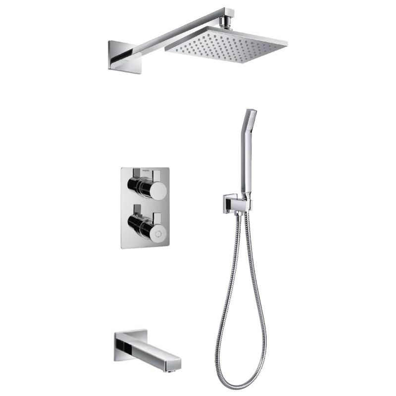 Flova Str8 Thermostatic 3 Outlet Shower Set