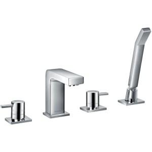 Flova Str8 4-Piece Bath Shower Mixer with Handset & Hose