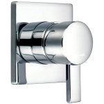 Flova Str8 Manual Shower Mixer with Dual Outlet Square Backplate