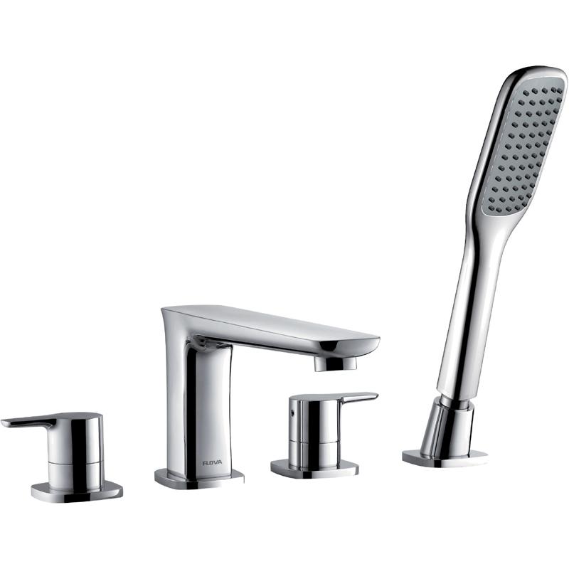 Flova Urban 4-Piece Bath Shower Mixer with Handset & Hose