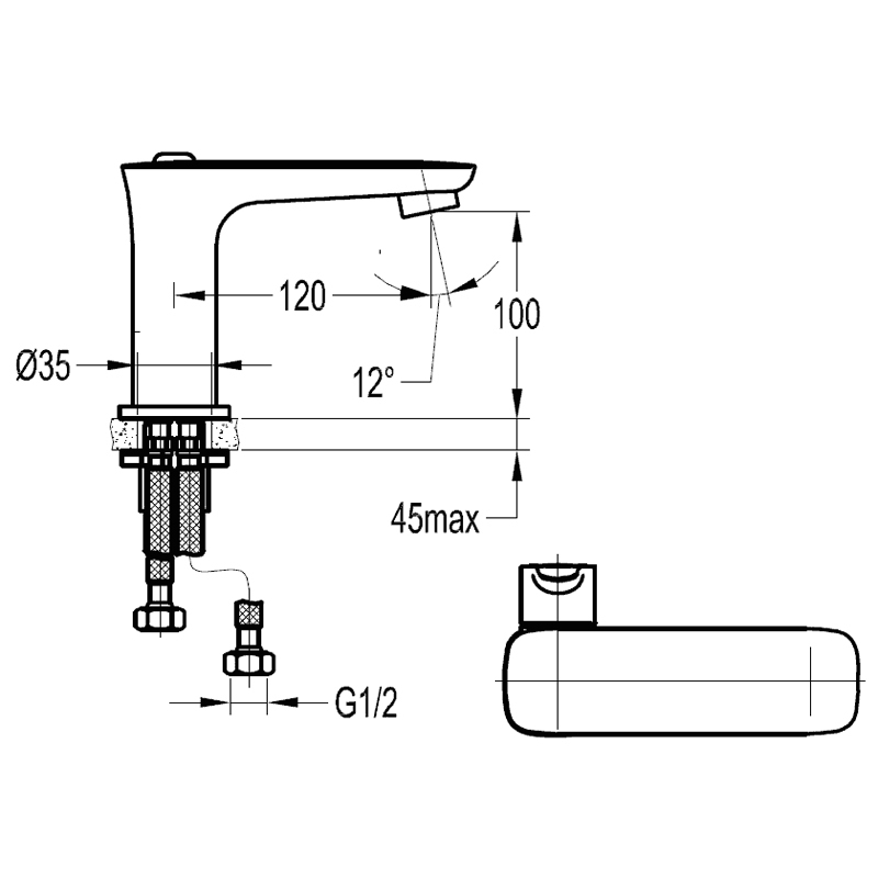 Flova Urban Single Lever Basin Mixer with Clicker Waste