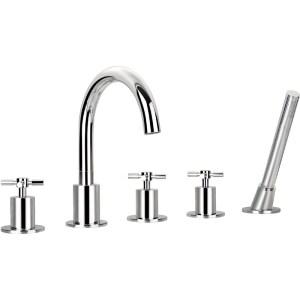 Flova XL 5-Piece Bath Shower Mixer with Handset & Hose