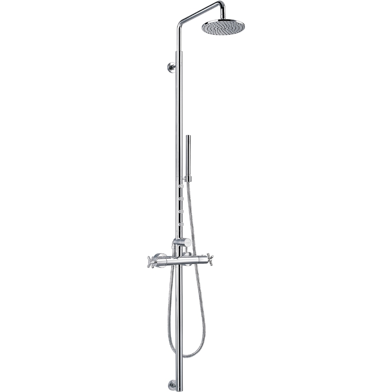 Flova XL Shower Column with Thermostatic Mixer & Body Jets
