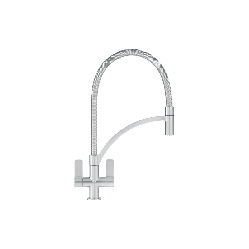 Franke Wave Kitchen Sink Mixer with Pull Out Nozzle SilkSteel