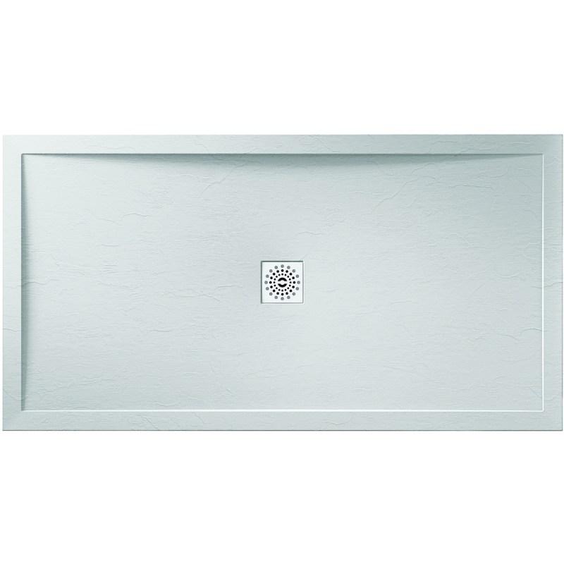 Aquaglass 1100x900mm White Slate Effect Shower Tray