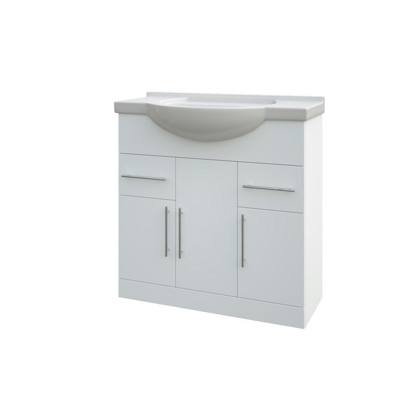 Aquapure 750mm Unit & Basin High Gloss White