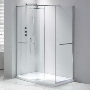 Aquaglass Purity Closing 1350x900mm Walk-In Enclosure