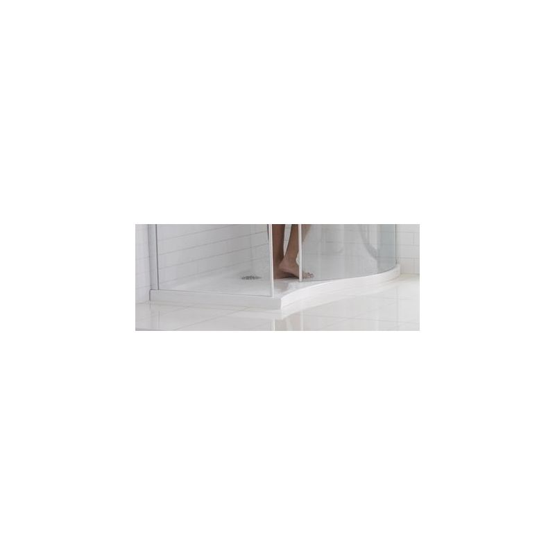 Aquaglass Purity Curved 1350x900mm Dedicated Shower Tray Right