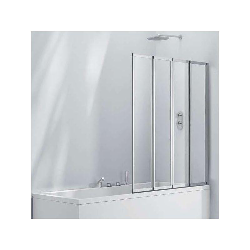 Aquaglass  3mm 4 Fold Bath Screen