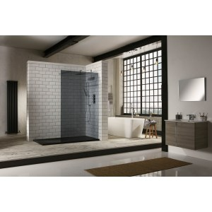 Aquaglass  1200mm Walk-In Front Panel Tinted Glass